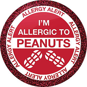Flox Creative Small 25mm Pin Badge Im Allergic to Peanuts