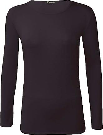 New Women/'s Plain TShirt Tees Ladies Girl Vest Basic Top Fashion Shirt Size 8-26