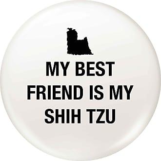 Flox Creative Small 25mm Pin Badge Best Friend Shih Tzu