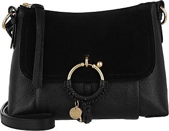 d77a4cc788cae See By Chloé Joan Grained Shoulder Bag Leather Black Umhängetasche schwarz