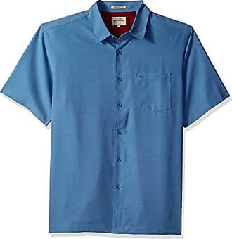 Quiksilver Waterman Mens Centinela 4 Button Down Shirt, Blue Shadow, S