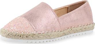 Scarpe Vita Women Slippers Espadrille Bast Glitter 160391 Pink UK 4 EU 37