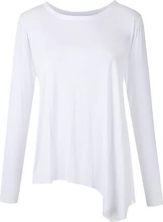 Uma Blusa asimmetrica Cherry - Di colore bianco