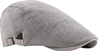 Zhhlaixing Cotton Blend Classic Flat Berets Cap Newsboy Hats - Men Boys Casual Driving Hat with Buckle Adjustable Grey