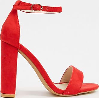 Glamorous Sandali effetto nudo rossi-Rosso