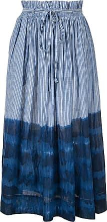 Karen Walker striped dye print skirt - Blue