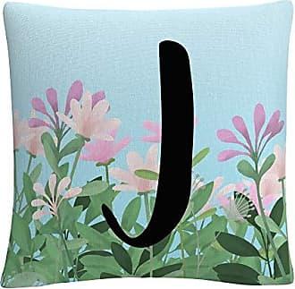 Trademark Fine Art Pink Floral Garden Letter Illustration J by ABC