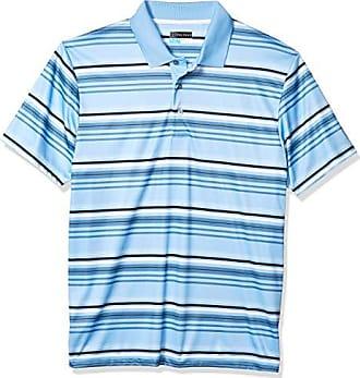 PGA TOUR Mens Short Sleeve Variegated Stripe Polo Shirt