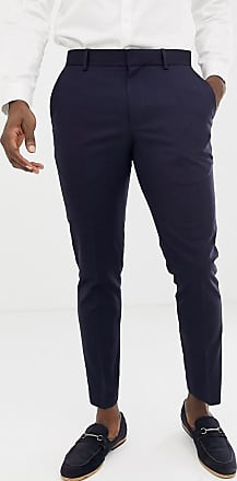 Burton Menswear wedding skinny fit suit trousers in navy
