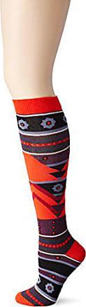 Ozone Womens Tribal Triangles Knee High Socks,Red,One Size