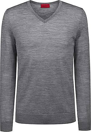 HUGO BOSS Slim-Fit Pullover aus einem leichten Merinowoll-Mix mit  V-Ausschnitt 9bd5e75ad7