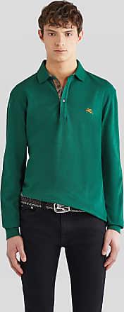 Etro Piquet Polo Shirt With Embroidered Pegaso, Man, Green, Size XXL