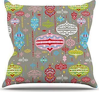 KESS InHouse Miranda Mol Ornate Silver Ornaments Throw Pillow, 18 by 18-Inch