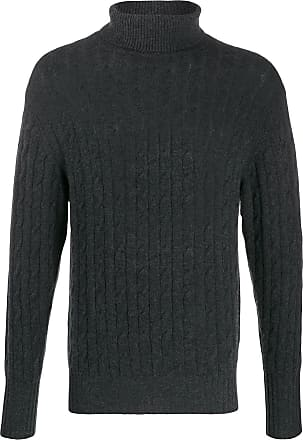 N.Peal cable knit roll neck jumper - Black
