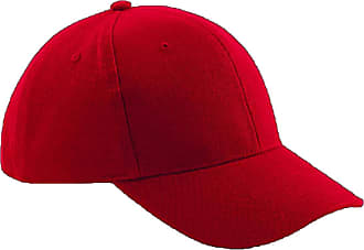 Beechfield B65 Pro Style Heavy Brushed Cotton Baseball Cap Classic Red