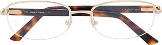 Cartier Armação de óculos oval CT0057O 002 - Marrom