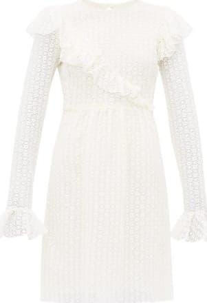 Giambattista Valli Lace Cotton-blend Mini Dress - Womens - Ivory