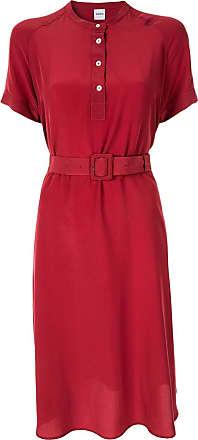 Aspesi Vestido reto mangas curtas - Vermelho