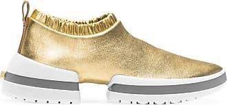 Stuart Weitzman Gold Stretch Metallic Leather