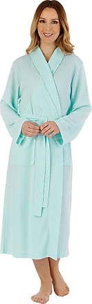 Slenderella Ladies Shawl Collar Waffle Gown HC3301 Mint Small
