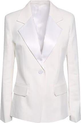 8b5225af438f Helmut Lang Helmut Lang Woman Satin-trimmed Canvas Blazer Ivory Size 2