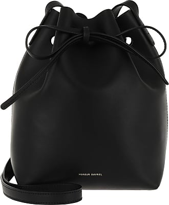 8561a5b362acf Mansur Gavriel Mini Bucket Bag Leather Black Raw Beuteltasche schwarz