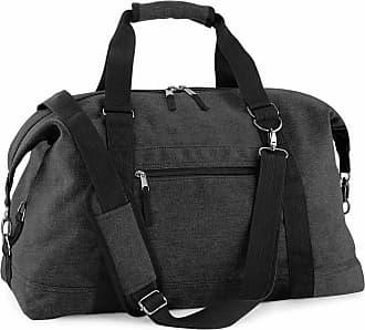 BagBase Bagbase BG650 Vintage Canvas Travel Bag - Black