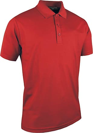 Glenmuir Mens MSP7373 Performance Pique Golf Polo Shirt Garnet XL