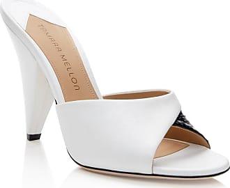 Tamara Mellon Shade White Nappa Sandals, Size - 35.5