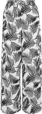 Onia Onia Woman Chloe Printed Poplin Wide-leg Pants Black Size XS