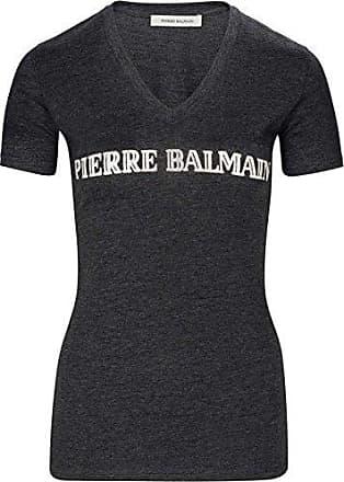 Gr.40 Pierre Balmain Longshirt LOGO PRINT T-SHIRT Top Oberteil Shirt T-Shirt LOG
