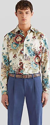 Etro Flowered Cotton Shirt, Man, Multicolor, Size 38
