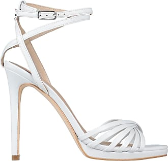 Sandals GUESS Charlet Leather Cream FLCHA1LEA03
