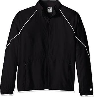 Soffe Mens Adlt Warm Up Jacket, Black, XX-Large