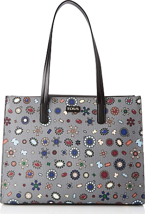 c3698cbce Tous Shopping Teatime, Womens Shoulder Bag, Multicolour (Gris/Negro)