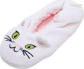 Foxbury Womens/Ladies Cat Slipper Socks (M/L) (Pink)
