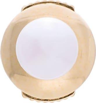 Yvonne Léon 18kt gold petit white pearl stud earring - Metallic