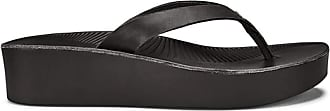 Olukai New Womens Ao Loa Wedge Sandal Black/Black 10