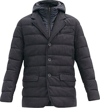 Herno La Giacca Quilted-down Wool-blend Jacket - Mens - Blue