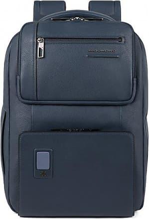 Piquadro Akron Zaino pelle 42 cm scomparto Laptop Blue