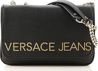Versace Shoulder Bag for Women On Sale, Black, Eco Leather, 2017, one size