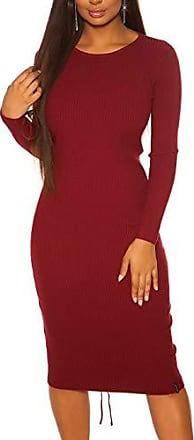 Koucla Ripp Strickkleid Minikleid Kleid Dress mit Schnürung