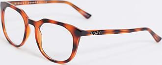 Quay Scrollin - Runde Brille mit Blaulichtfilter in brauner Schildpatt-Optik