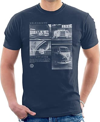 Volkswagen T1 Campervan 1967 Shots Mens T-Shirt Navy Blue