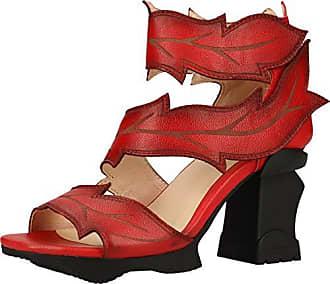 Laura Vita Damen Sandalen Leder Sandalette Sommerschuhe Celeste 028 rot grün 39