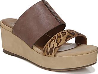 Naturalizer womens Urbana Slide Sandals Brown Size: 6.5 Wide