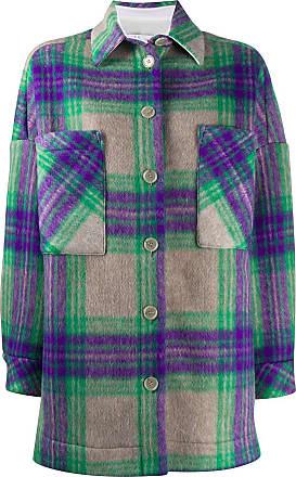 Iro checkered shirt coat - Green