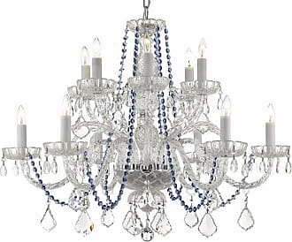Gallery T22-2269 12 Light 27 Wide Crystal Chandelier with Blue