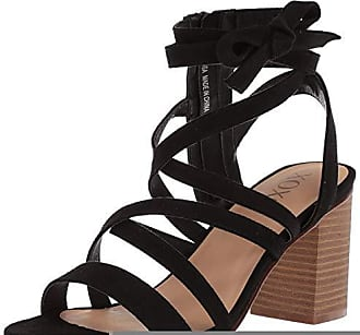 xoxo Womens Emosa Heeled Sandal, Black, M050 M US