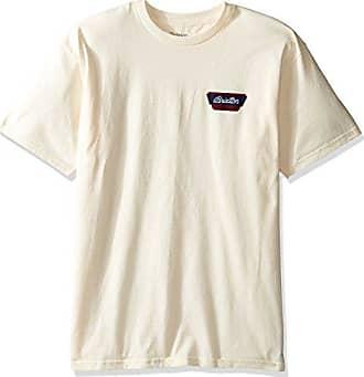 ba6d11d1 Brixton Mens Normandie Short Sleeve Standard Tee, Off Off White 2XL